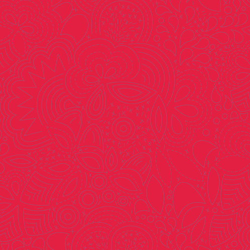 Sun Print 2020   Alison Glass Fabric   Stitched - Poppy