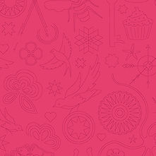 Sun Print 2020 | Alison Glass Fabric | Embroidery - Strawberries