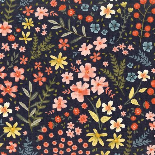 Garden Notes | Clothworks | Toss Navy