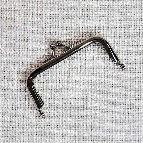 "3"" Clasp Purse Frame | Glue-in | Silver Metal Tone | Rectangular | DIY Craft Bag"