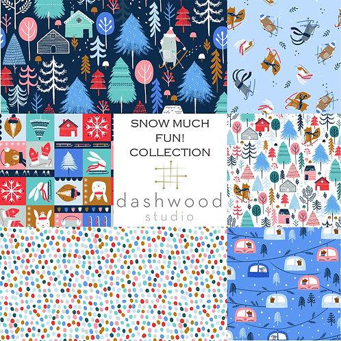 PRE-ORDER   Snow Much Fun Collection   Dashwood Studio   Fat Quarter Bundle