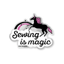 Sewing is Magic Sticker | by, Sarah Watts of Crafted Moon