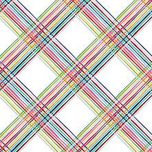 Happy! | Clothworks | Diagonal Plaid