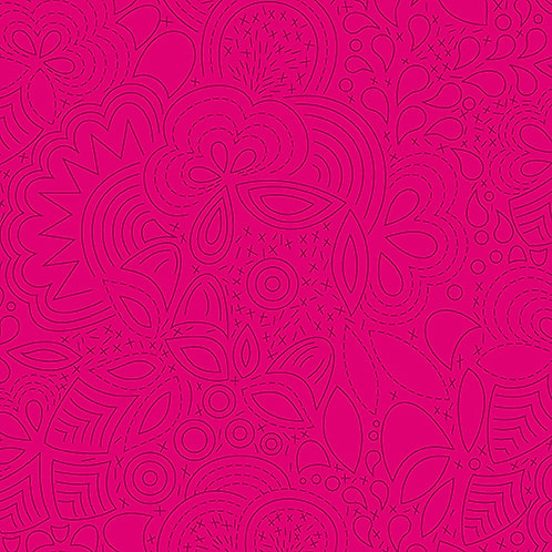 Sun Print 2020   Alison Glass Fabric   Stitched - Iodine