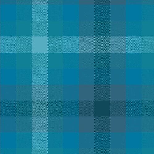 Kaleidoscope Stripes & Plaids  | Alison Glass | Plaids - Denim