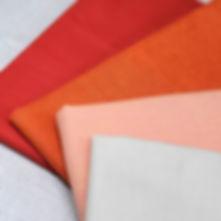 Peppered Cottons - Oranges | Yarn Dyed Woven Shot Cotton | Half Yard Bund