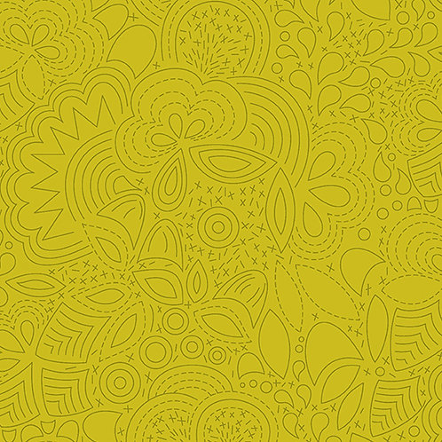 Sun Print 2020 | Alison Glass Fabric | Stitched - Chartreuse