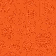 Sun Print 2020 | Alison Glass Fabric | Embroidery - Pumpkin