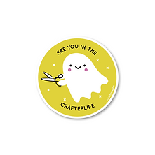 Crafterlife Sticker | by, Sarah Watts of Crafted Moon
