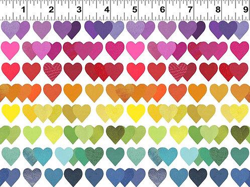 Shine Bright | Clothworks | Heart Stripe White