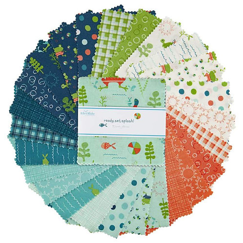 "Ready, Set, Splash! - 5"" Charm Pack 