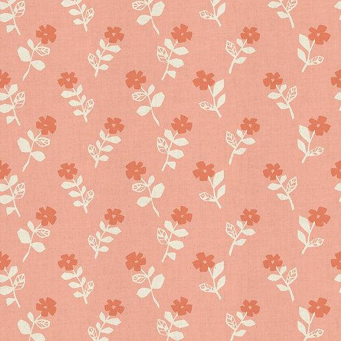 Mori No Tomadachi - Odoru Hana - Coral | Cotton+Steel Fabric