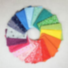 Rainbow Blender -  Fat Quarter Fabric Bundle | Shop Curated Bundle - 19 Fabrics
