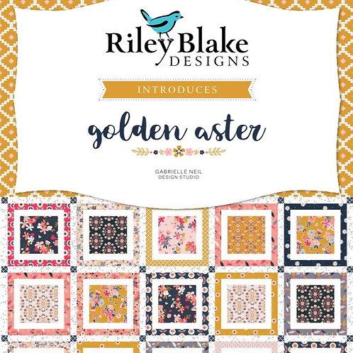 PRE-ORDER   Golden Aster Collection   Riley Blake Design   Fat Quarter Bundle