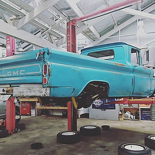 1962 gmc in for an inspection #American