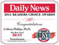 2011 Readers Choice Award Diet Doctors