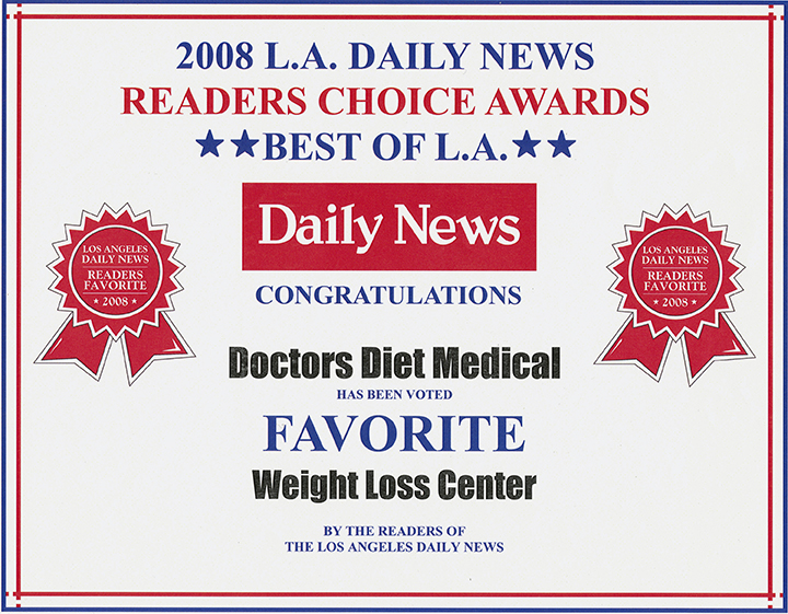 2008 Readers Choice Award Diet Doctors