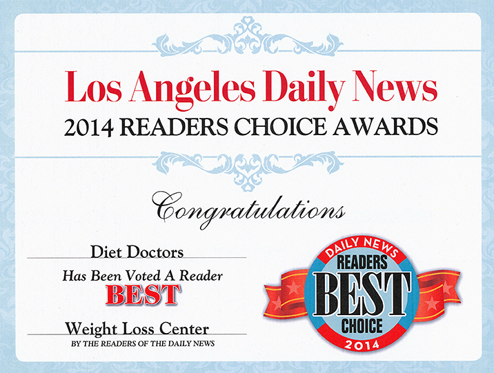 2014 Readers Choice Award Diet Doctors