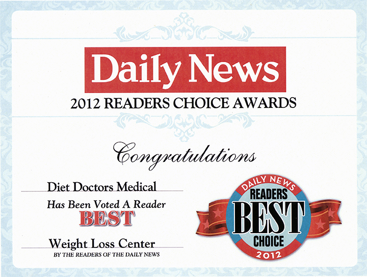 2012 Readers Choice Award Diet Doctors