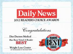 2012 Readers Choice Award Diet Doctors