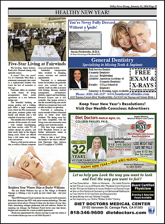 2016 Diet Doctors in Warner News