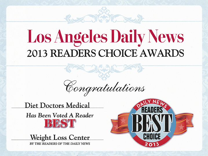 2013 Readers Choice Award Diet Doctors