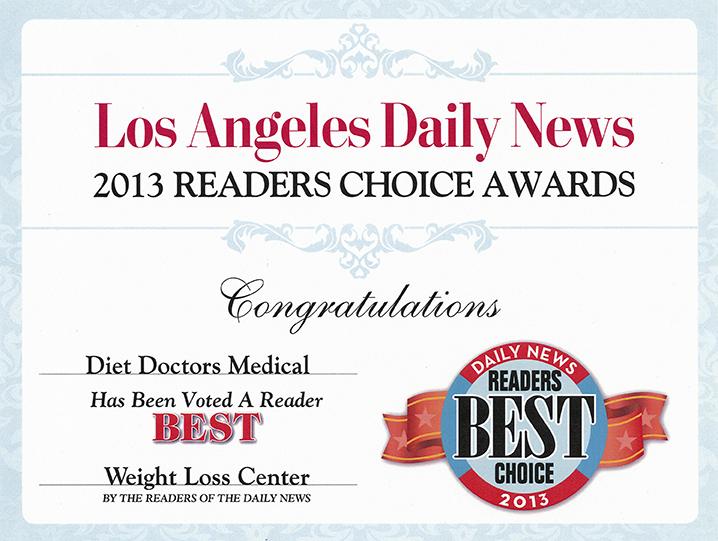 2013 Readers Choice Award Diet Doctors