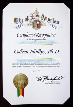 2013 City of LA - Colleen Phillips