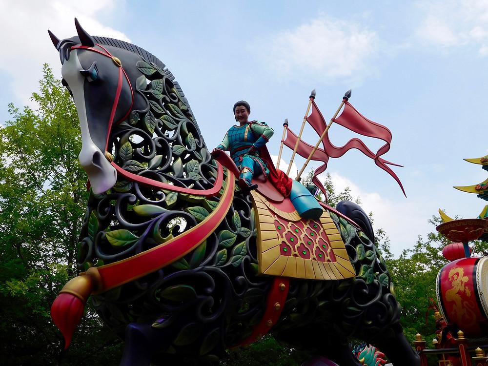 Mulan in the Shanghai Disney parade