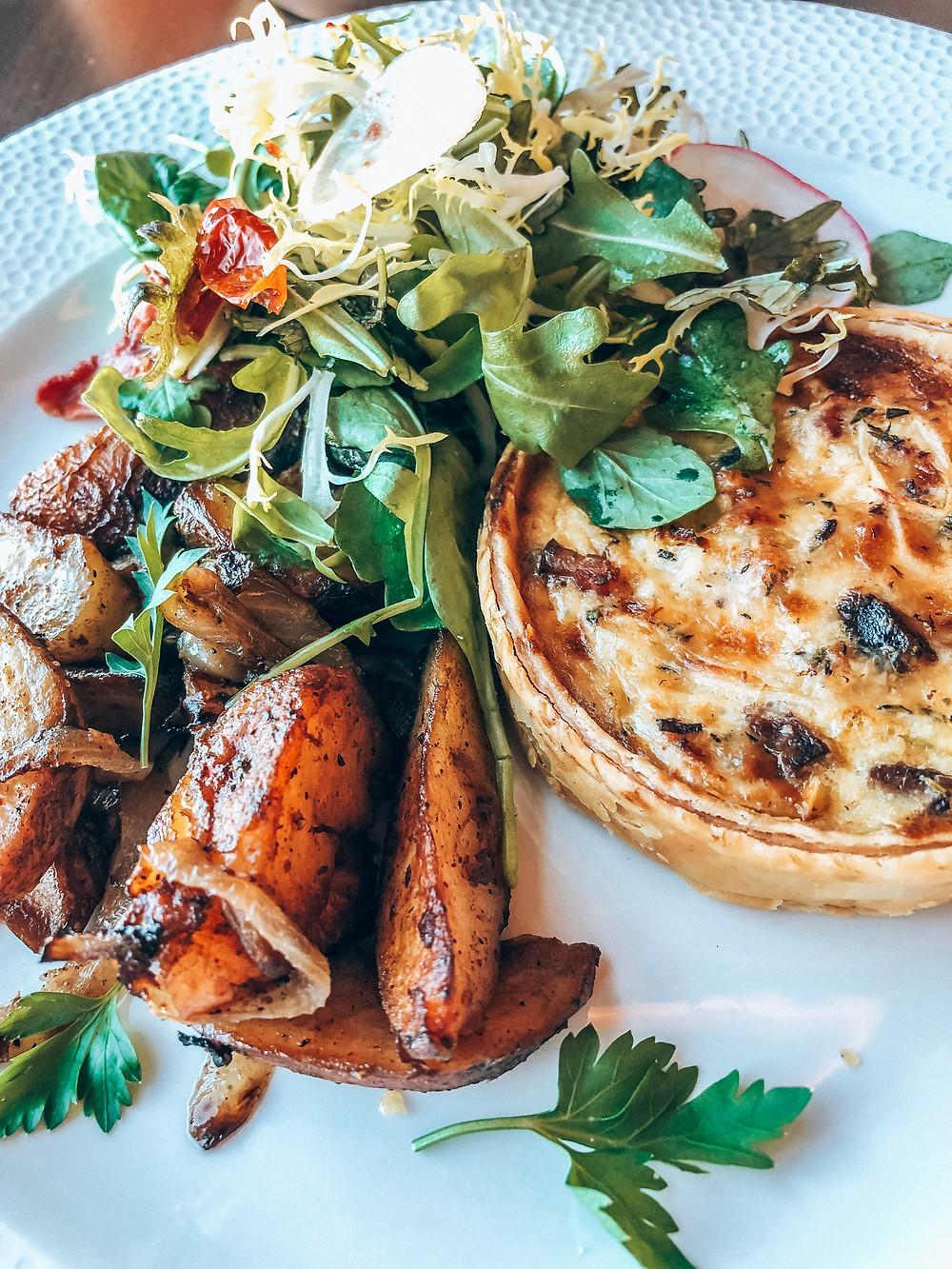 Food at Topolino's Terrace at Disney's Riviera Resort - quiche gruyere
