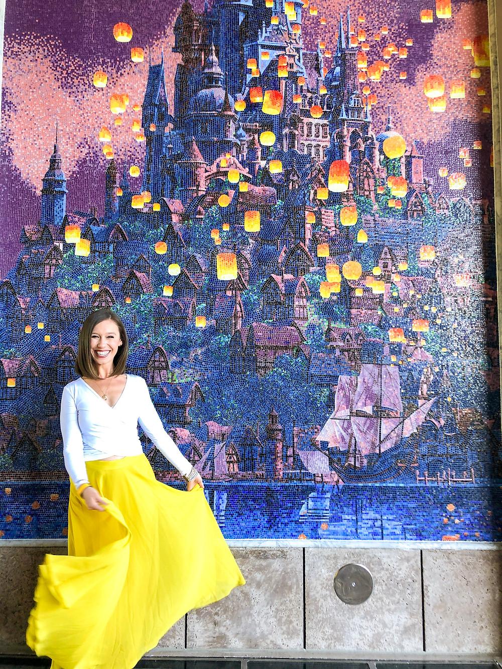 Tangled mosaic at Disney's Riviera Resort