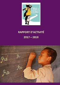 Rapport d'activité de l'association J'irai à l'école 2017, 2018