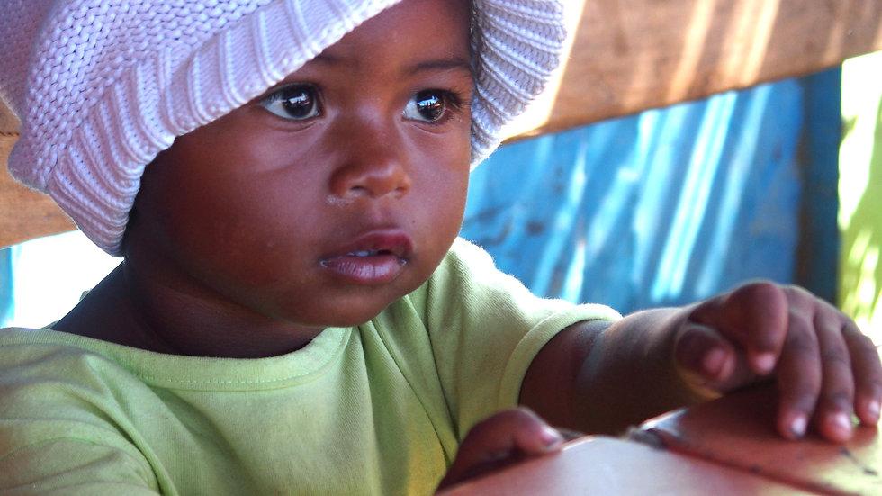 portrait d'un enfant malgache