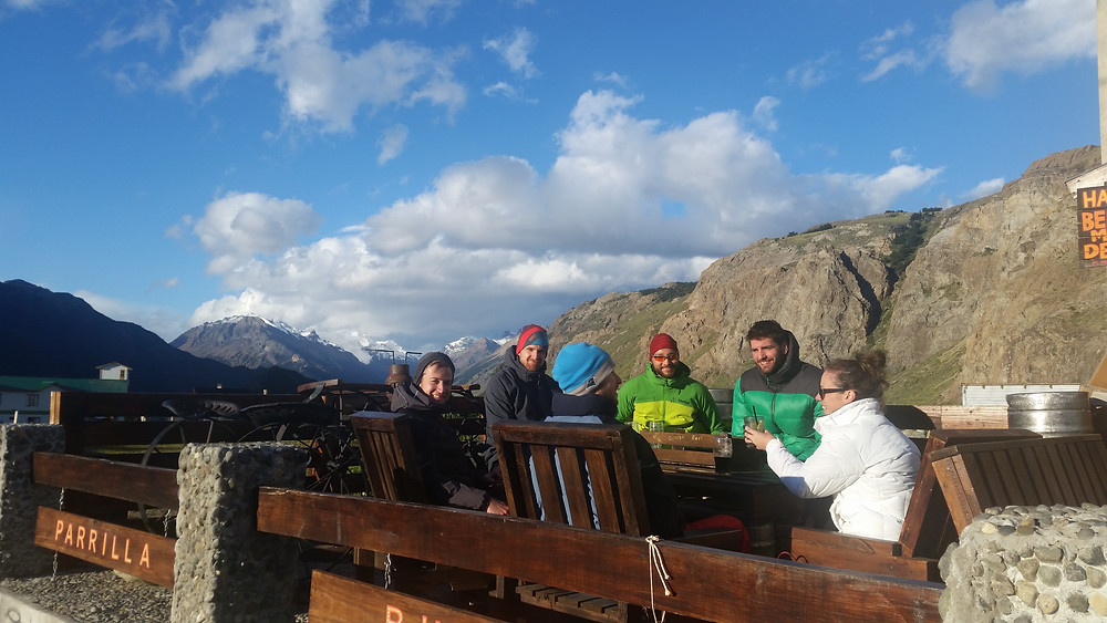 Drinks in Patagonia during the summer