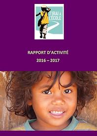 Rapport d'activité de l'association J'irai à l'école 2016, 2017