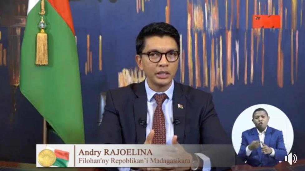 Andry Rajoelina président de Madagascar fait le point sur la situation COVID19