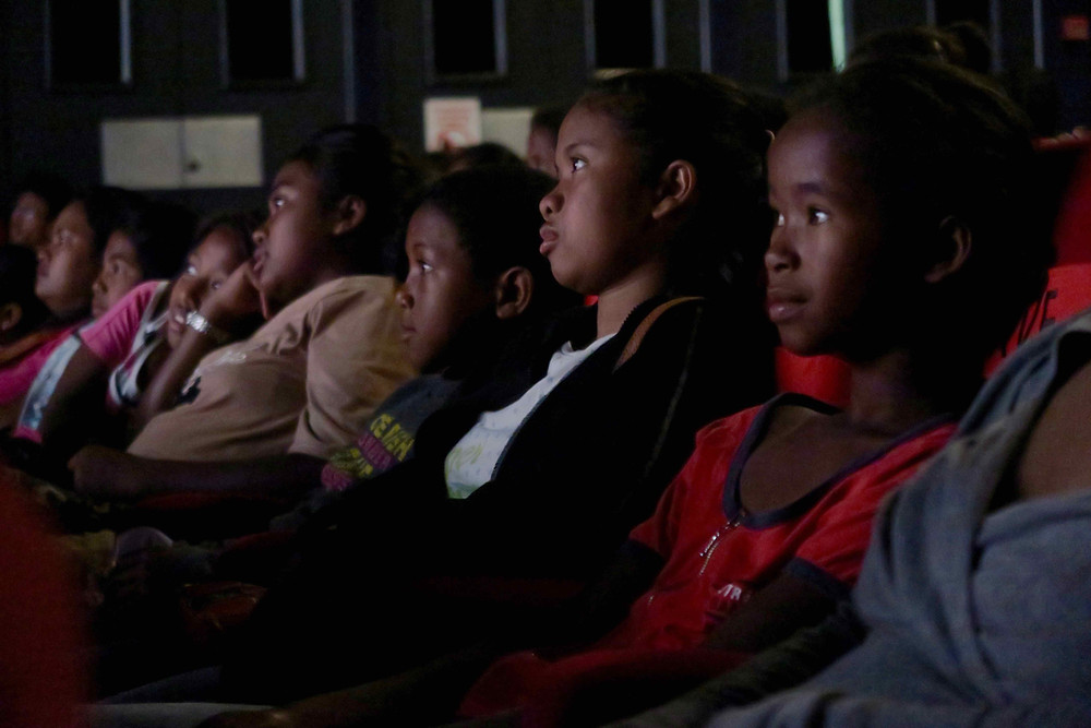 élèves de l'école Règne au cinéma