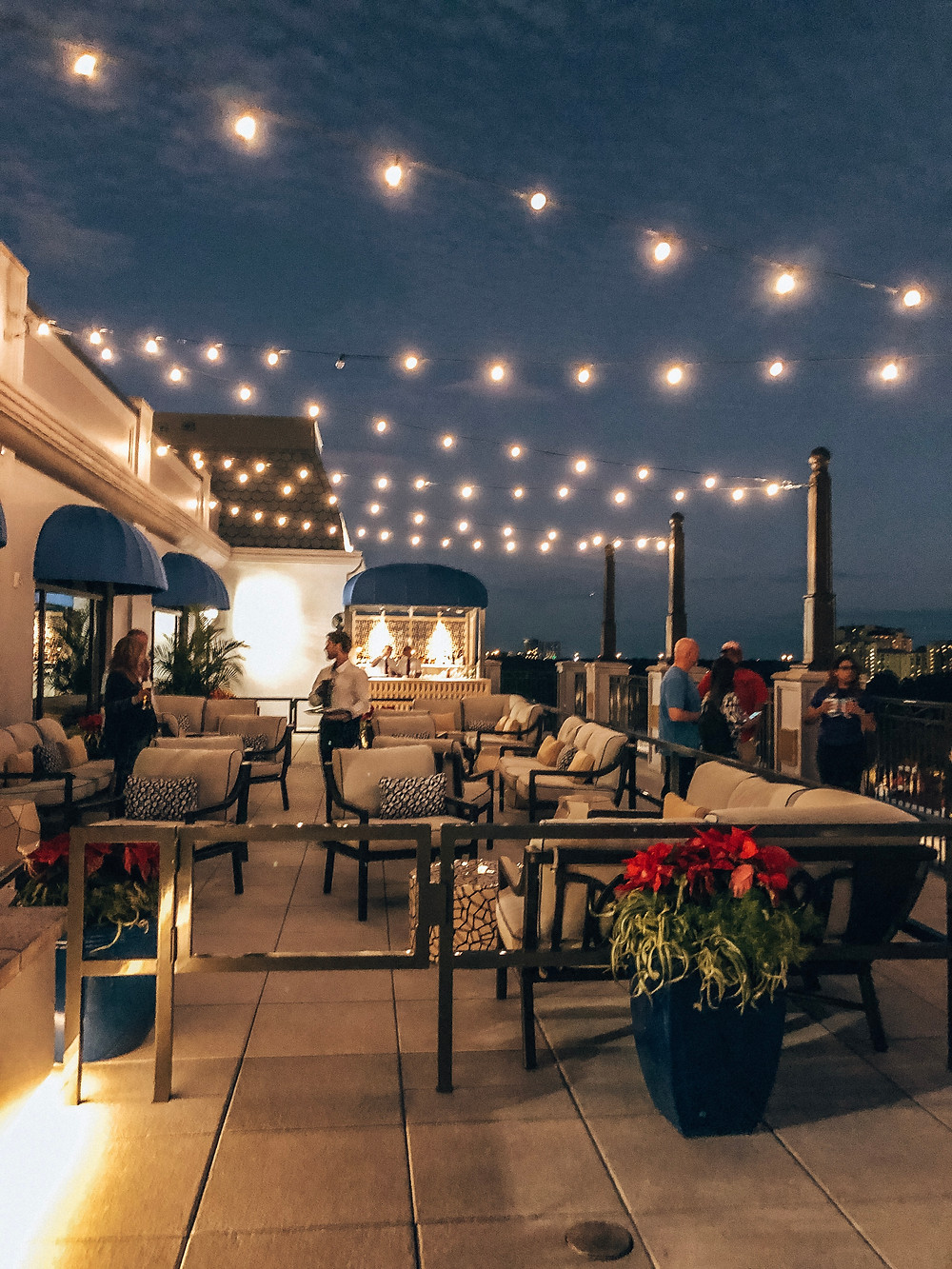Outdoor bar at Topolino's Terrace at Disney's Riviera Resort