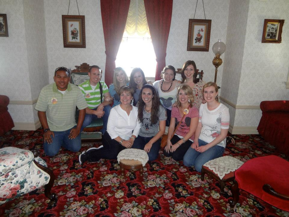 WDW Traditions team in Walt Disney's apartment
