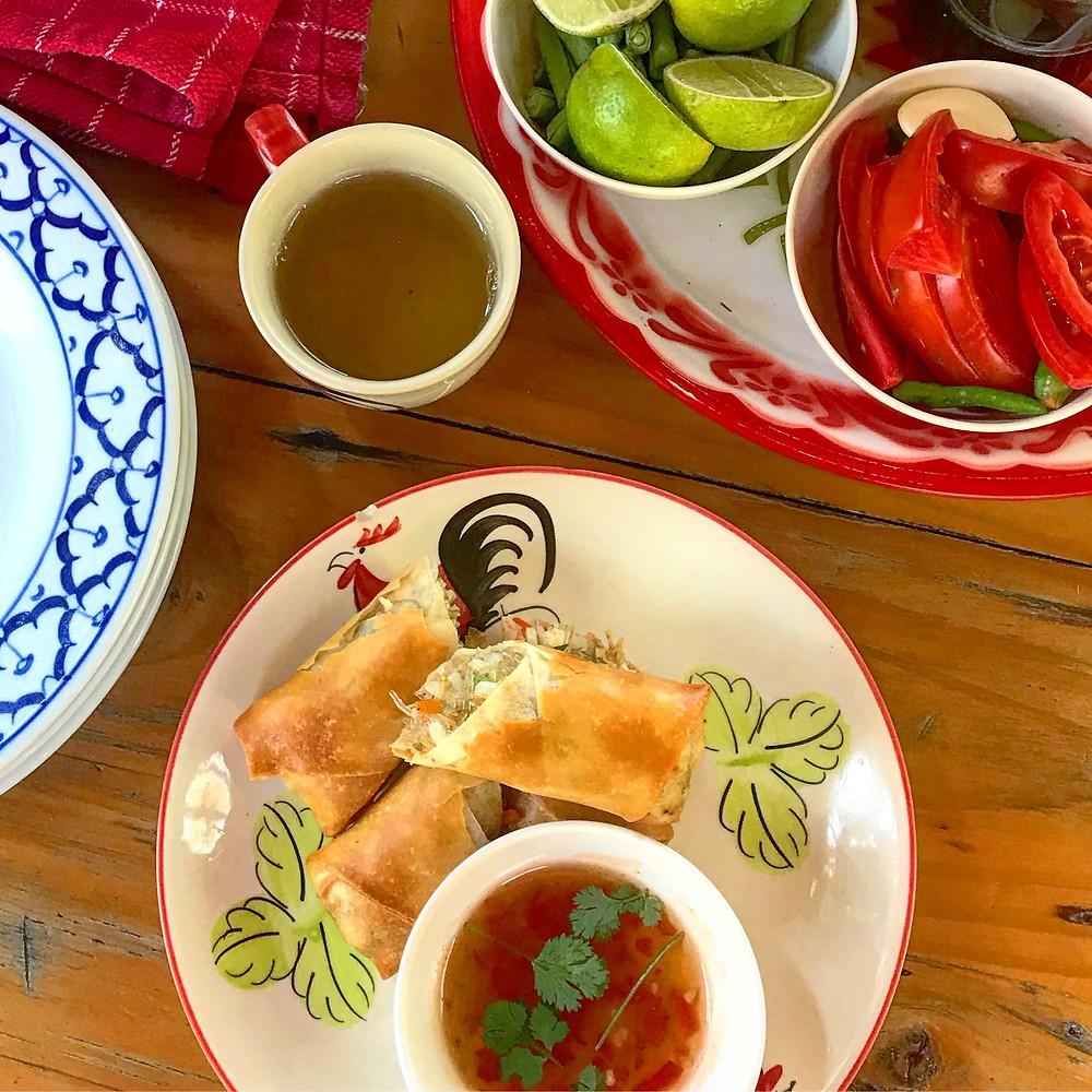 Thai Food-spring rolls