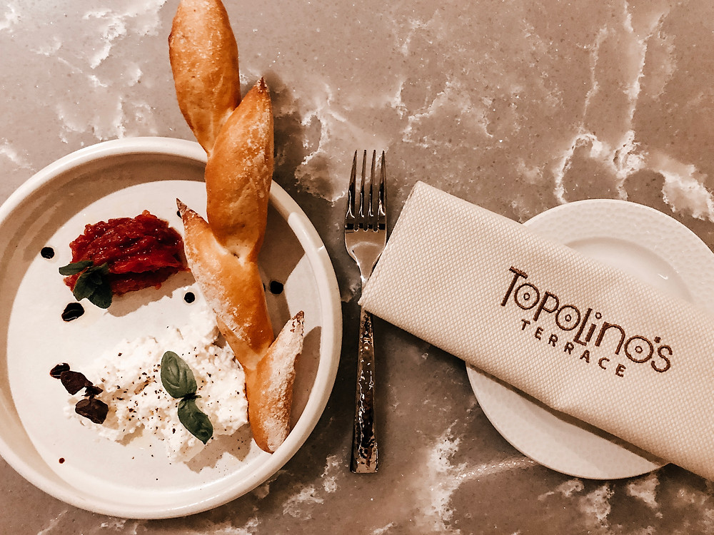 Ricotta appetizer at Topolino's Terrace at Disney's Riviera Resort