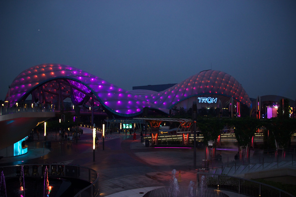 Tomorrowland Shanghai Disneyland at Night Cait Without Borders