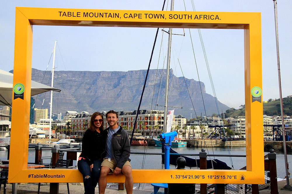 Sitting in front of Table Mountain, Cape Town, South Africa