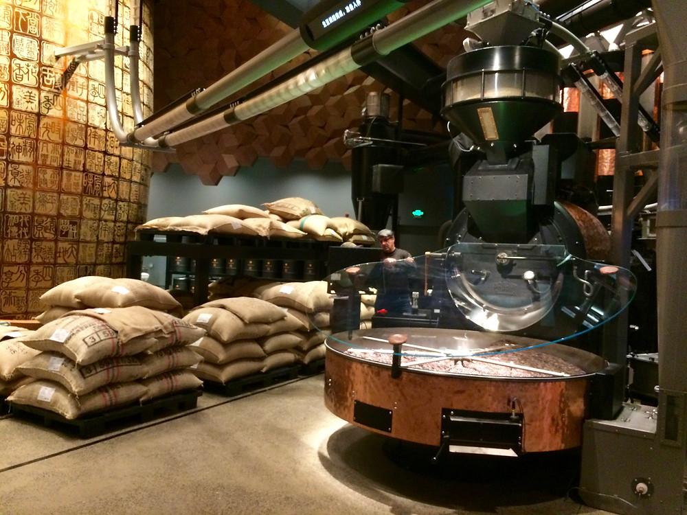 Shanghai Starbucks Roastery Reserve, the largest Starbucks in the world