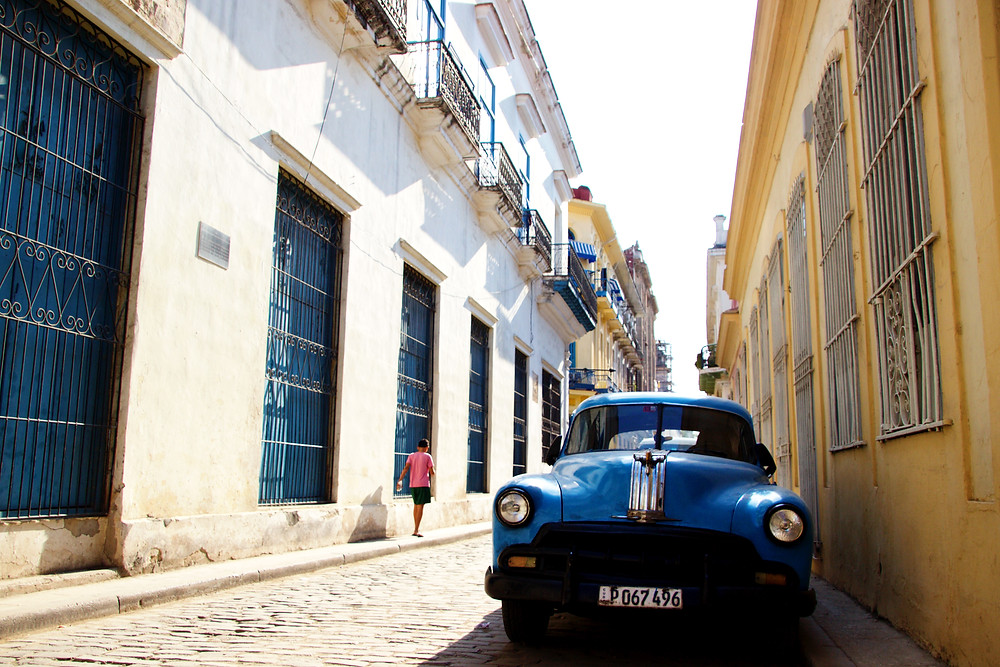 Classic car on the streets in Havana, Cuba