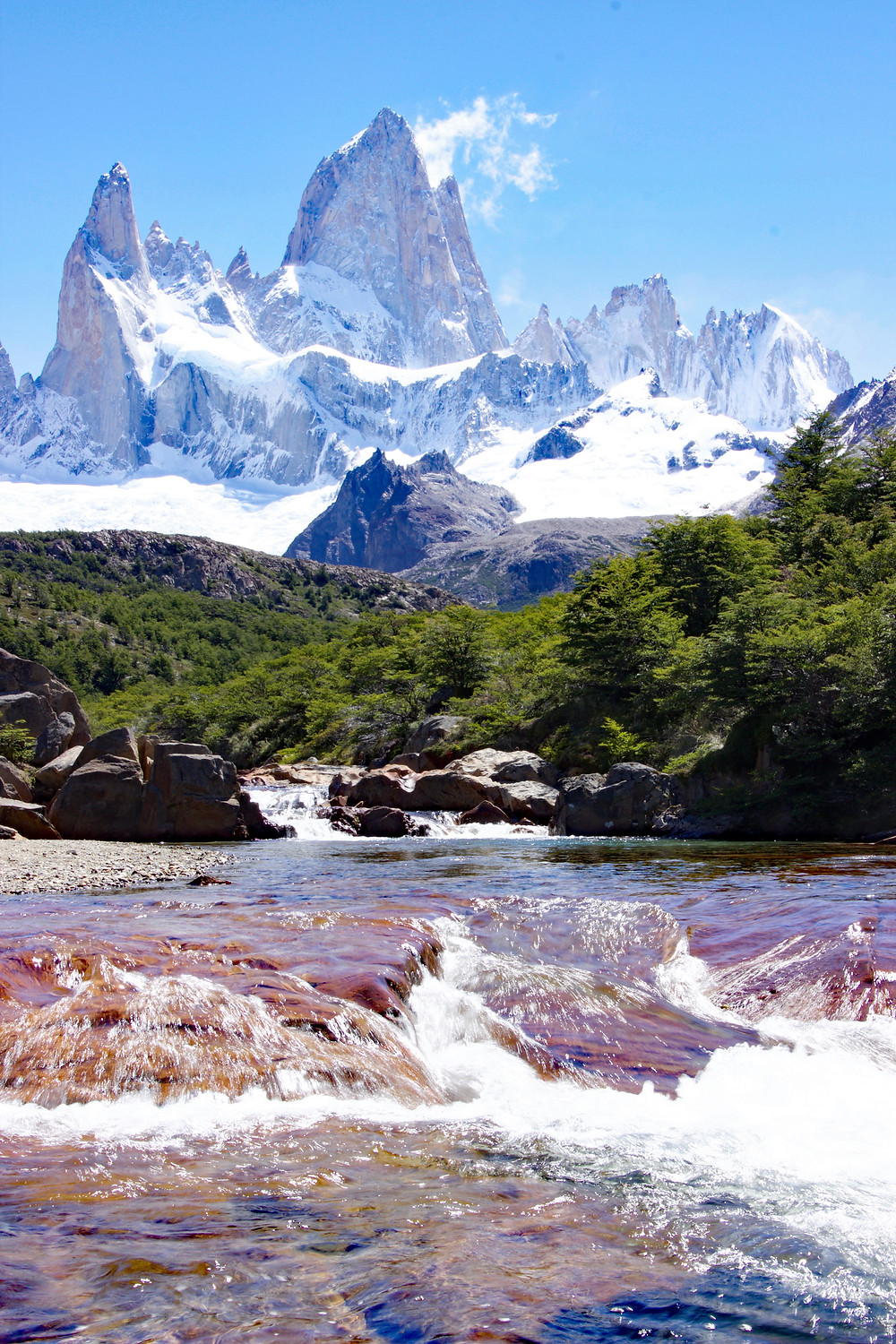 Fitz Roy Mountain in Patagonia between Argentina and Chile