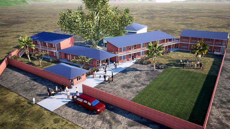 Maquette de la future école de l'association J'irai à l'école à Madagascar