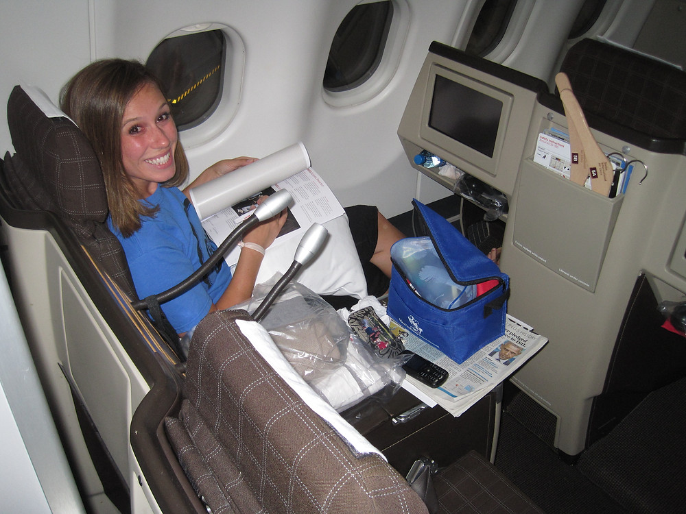 Flying to Africa in Business Class