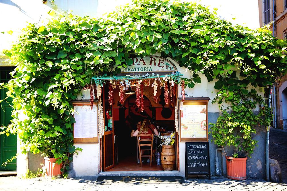 A restaurant in Trastevere, Rome