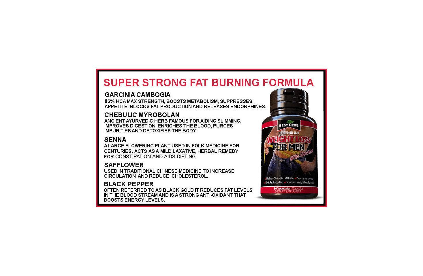 Weight Loss Supplement For Men Fat Burner Slimming Diet Pills For Men